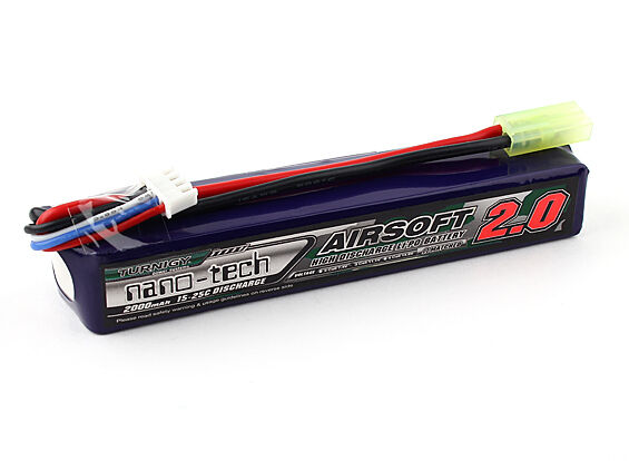 New Turnigy nano-tech 2000mah 3S 15C 25C 11.1V Lipo Battery Airsoft Pack US 1 | eBay