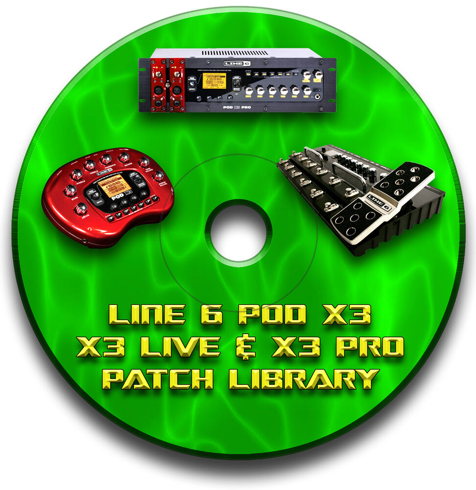 line 6 pod x3 live pro pre programmed patches cd over 2000 guitar effects pedal ebay. Black Bedroom Furniture Sets. Home Design Ideas