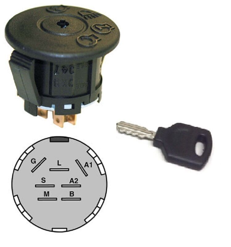 Mtd Garden Tractor Ignition Switch : Mtd ignition switch with key compatible john
