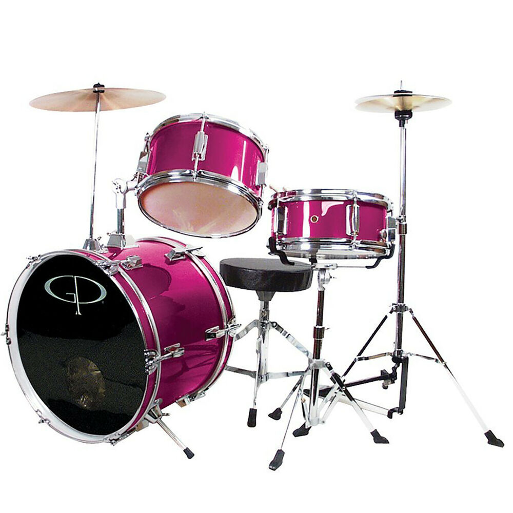 New Gp Percussion Gp50 Deluxe 3 Piece Complete Junior Drum