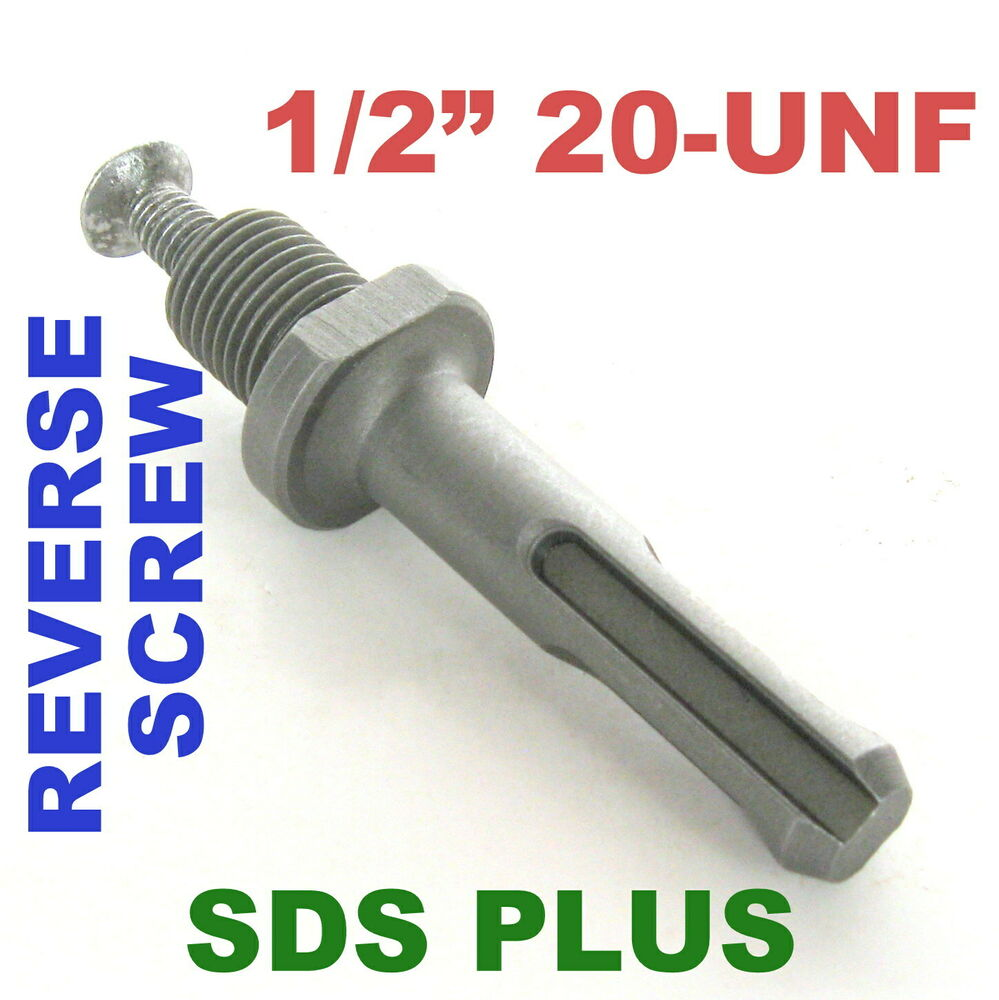 Pc sds plus chuck adapter quot unf thread with reverse
