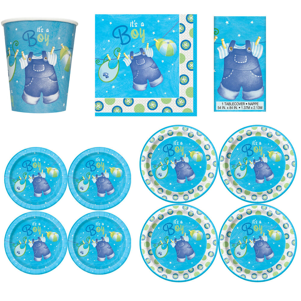 baby shower boys party tableware supplies boy napkins plates cups
