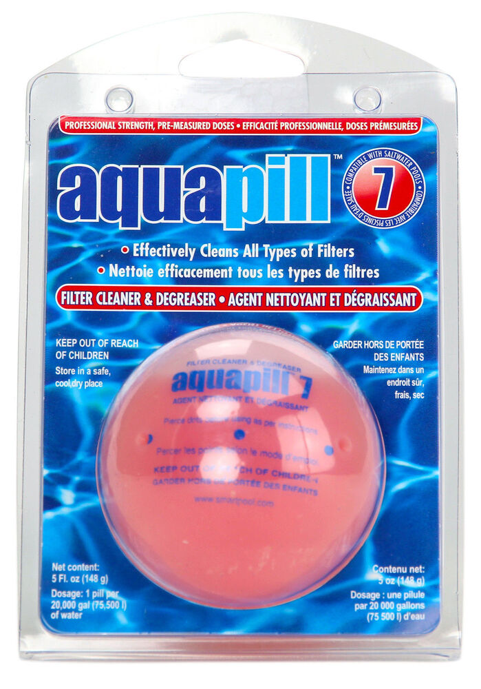 6 Pack Aquapill 7 Swimming Pool Filter Cartridge Cleaner Degreaser Ebay
