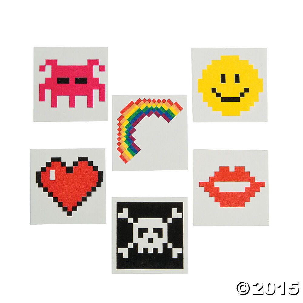 72 Totally 80s Video Game Themed Party Favors Temporary