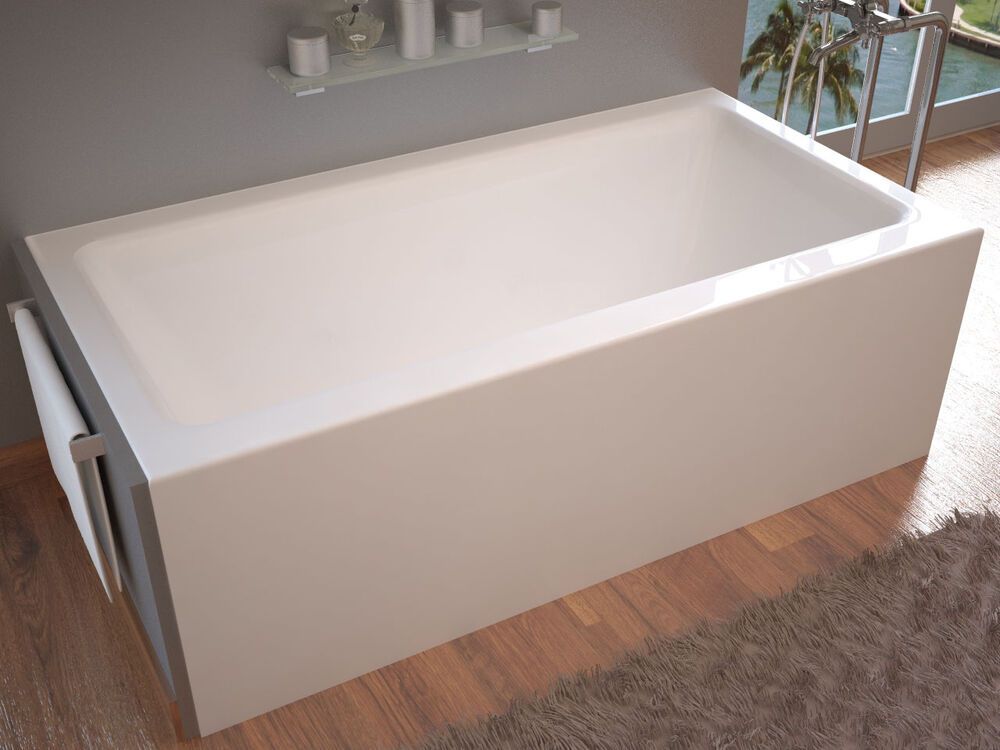 pontormo 32 x 60 front skirted drop in bathtub soaker tub ebay. Black Bedroom Furniture Sets. Home Design Ideas