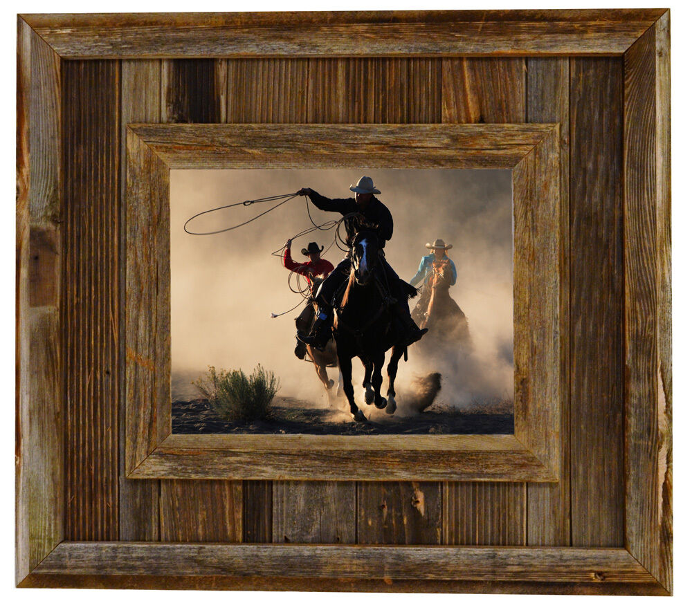 Western Decor Frames: Salvaged Reclaimed Barnwood Picture Frame--Durango Rustic