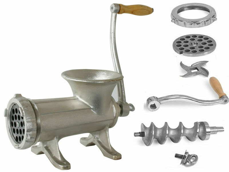 Hand Grinders For Metal ~ Heavy duty metal hand operated meat mincer grinder kitchen