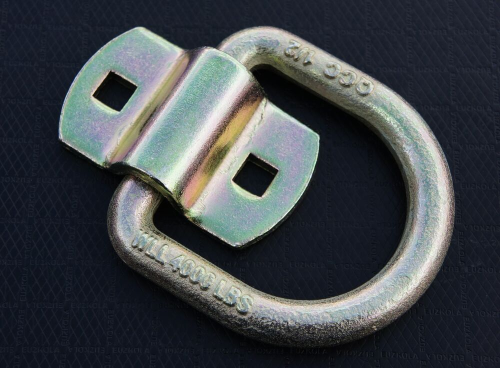 Bolt On Tie Downs : Bolt on d ring quot flatbed truck car trailer tie down