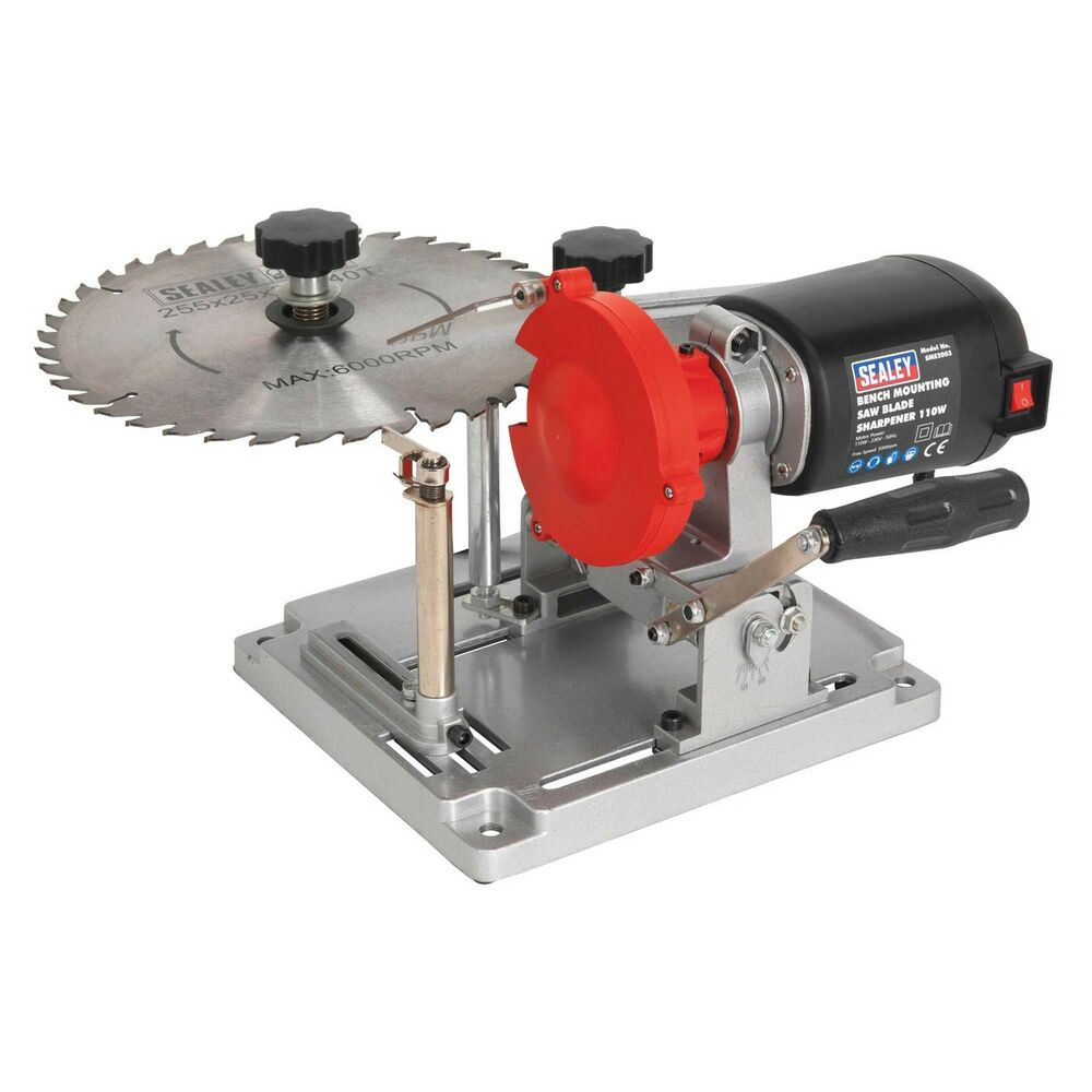 Sealey Tct Saw Blade Sharpener With Grinding Disc Bench