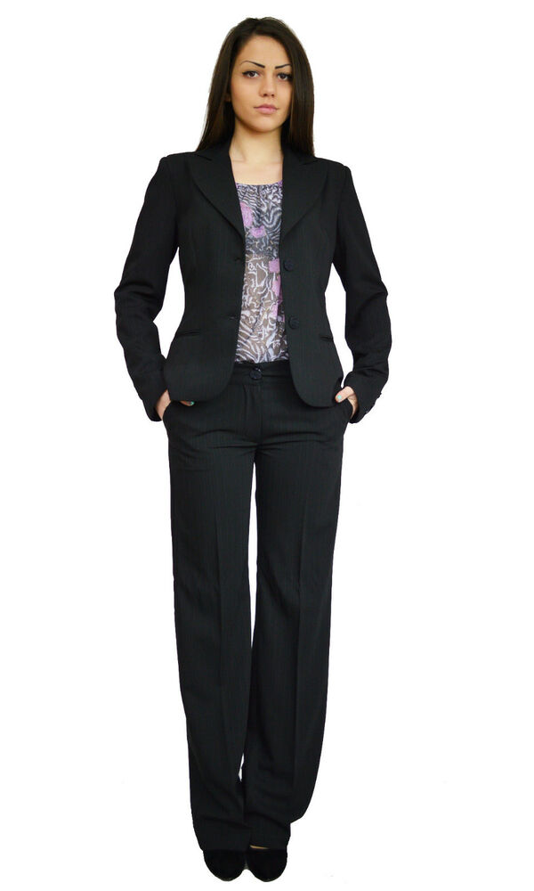 Suits. Add some structure to your wardrobe with ladies' suits from Ann Taylor. Some days you need to look like you mean business. When the occasion calls for a sharp, fitted look, search no further than our perfect one-button blazers, sleek sheath dresses, and straight leg pants in classic, curvy, and modern fits.