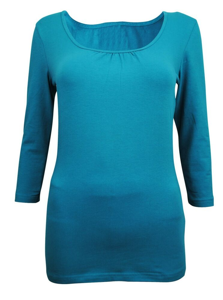 Womens h m t shirt 3 4 sleeve top green size 8 to 10 for Girls shirts size 8