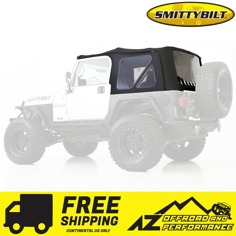 smittybilt replacement soft top w tinted windows 97 06 jeep wrangler tj 9970235 ebay. Black Bedroom Furniture Sets. Home Design Ideas