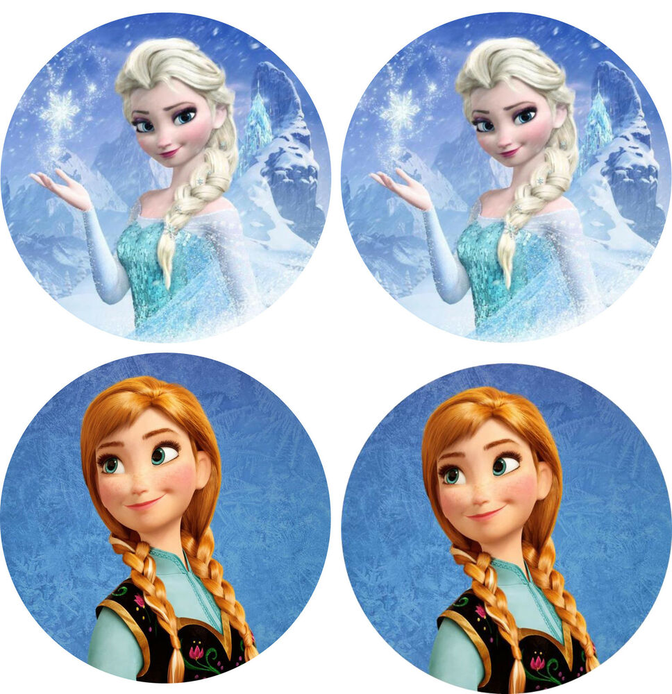 frozen cake topper frozen elsa amp 4 cake topper 4 quot edible icing 4385