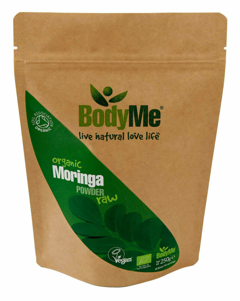 Bodyme organic moringa oleifera powder raw 250g soil for Organic soil uk