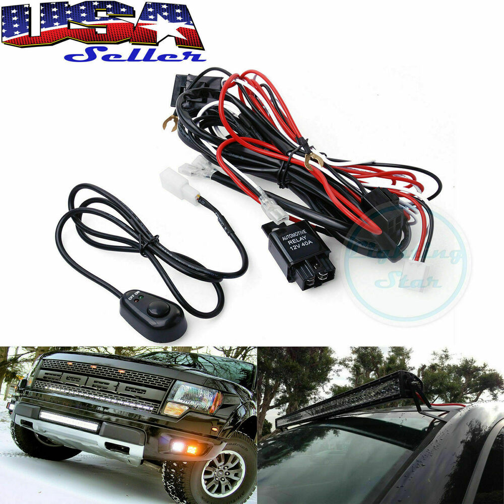Wiring harness kit 40a 12v on off switch relay harness for led work