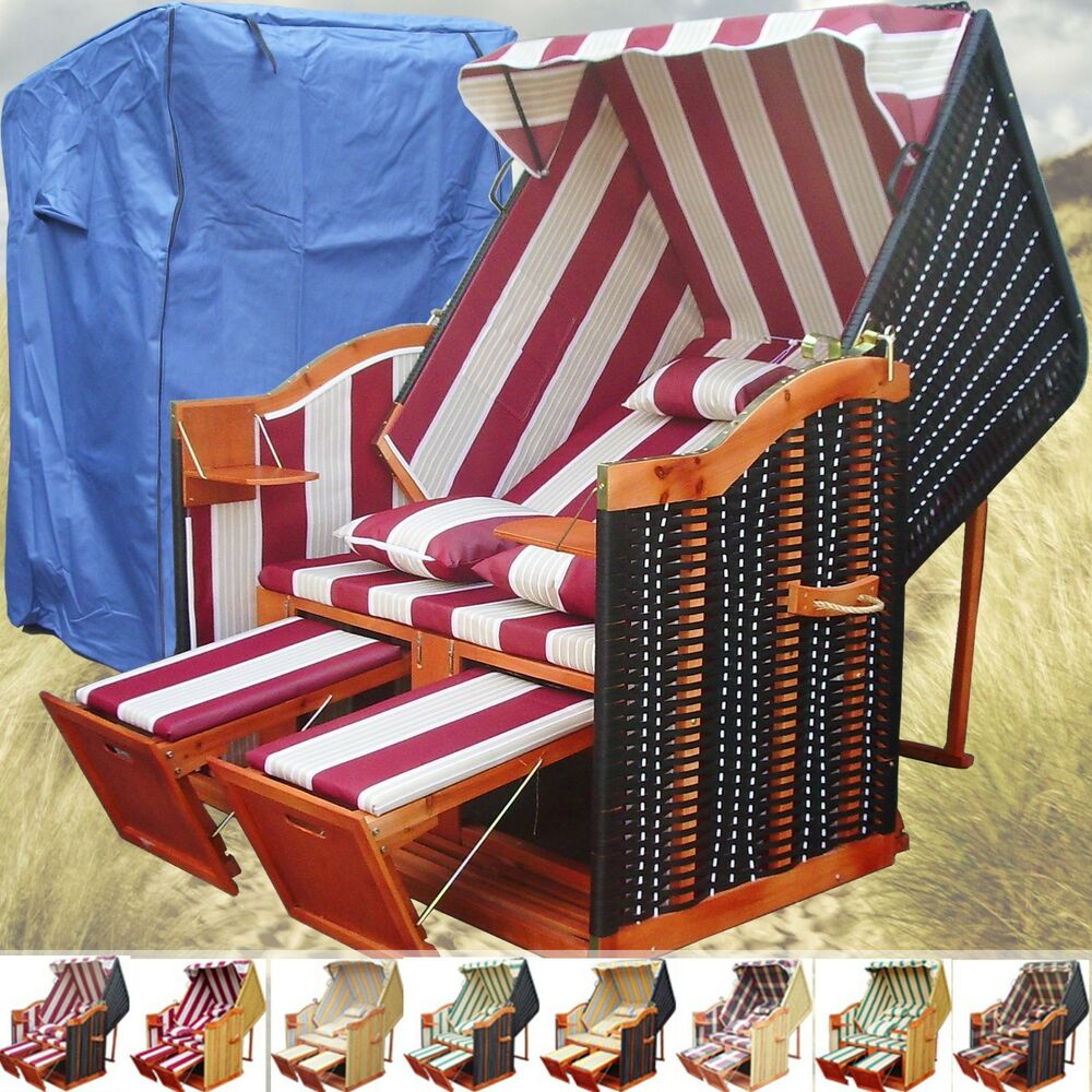 luxus strandkorb xxl schutzh lle gartenliege sylt ostsee volllieger strandstuhl ebay. Black Bedroom Furniture Sets. Home Design Ideas