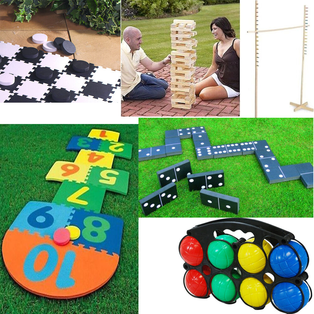 NEW LARGE FAMILY GIANT GARDEN GAMES OUTDOOR SUMMER BEACH BBQ PARTY FUN KIDS | eBay
