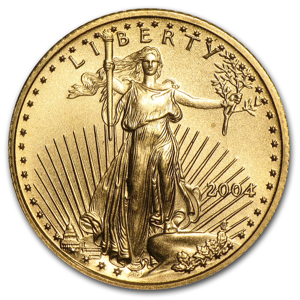 2004 1 10 Oz Gold American Eagle Coin Brilliant Uncirculated Sku 147 Ebay
