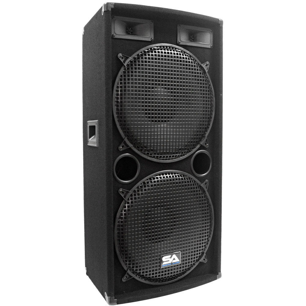 Seismic Audio Dual 15 Quot Pa Dj Speaker 500 Watts Pro Audio
