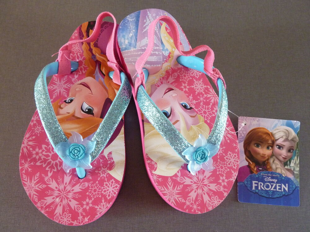frozen elsa anna ice queen sandals flip flops slippers flip flops shoes ebay. Black Bedroom Furniture Sets. Home Design Ideas
