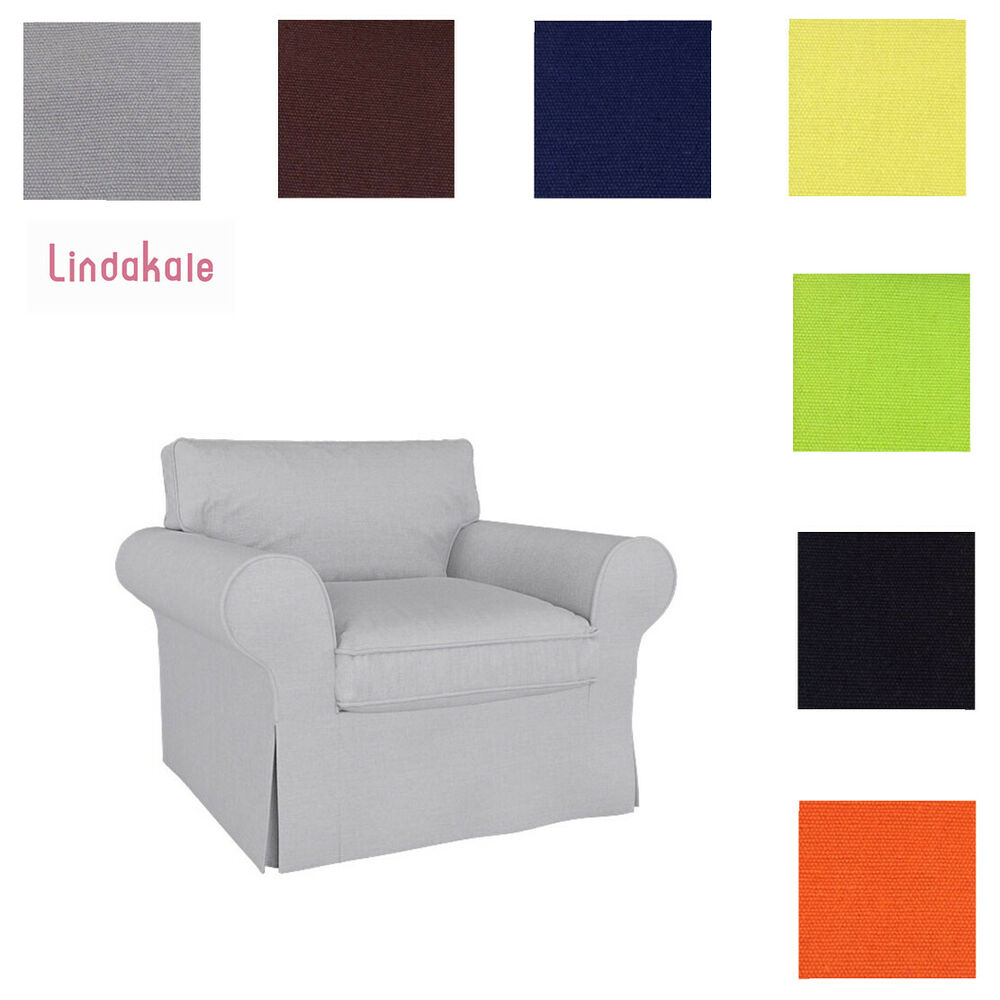custom made cover fits ikea ektorp chair replace ektorp armchair cover ebay. Black Bedroom Furniture Sets. Home Design Ideas