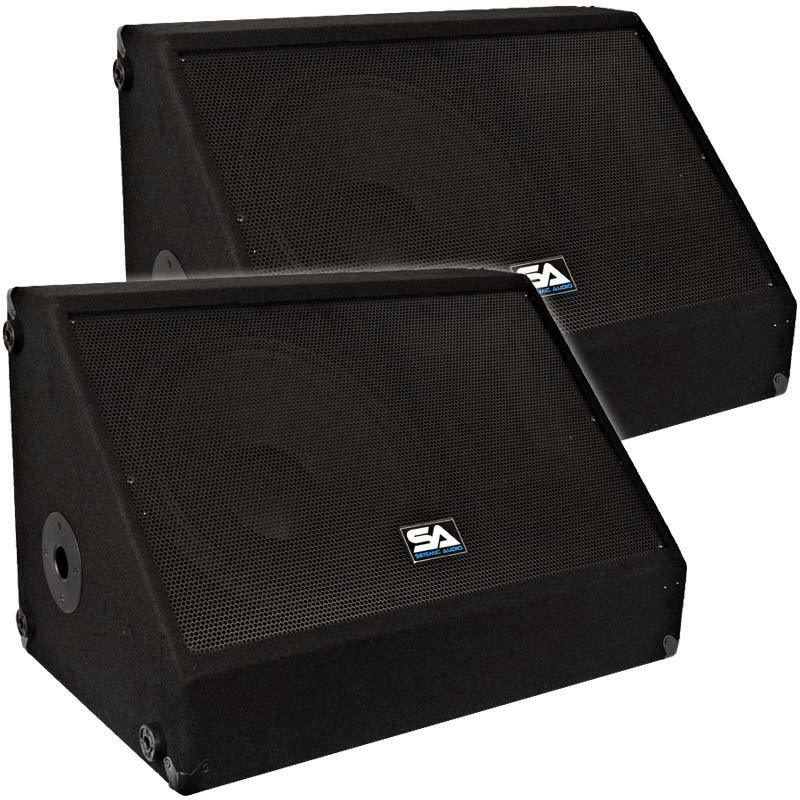 Seismic audio pair 15 floor stage monitors speakers new for 12 inch floor speakers
