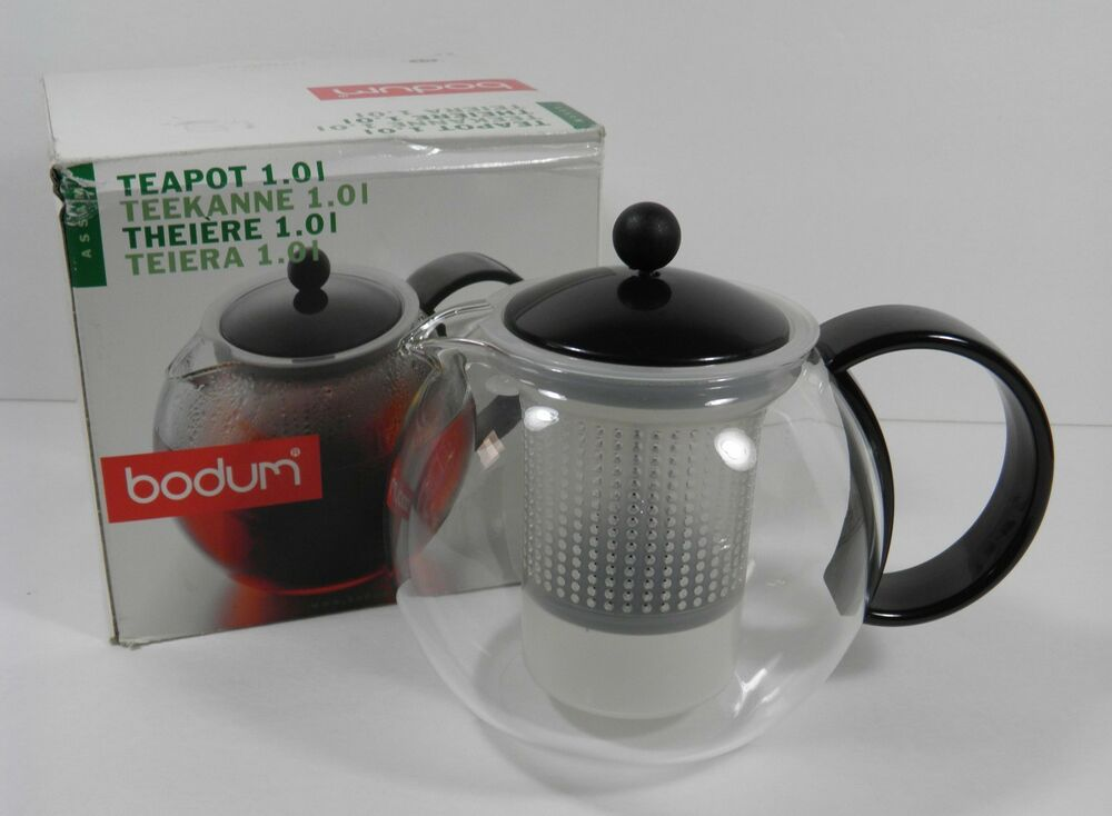 Bodum Assam 32 Oz Glass French Teapress Teapot Tea Infuser Maker W