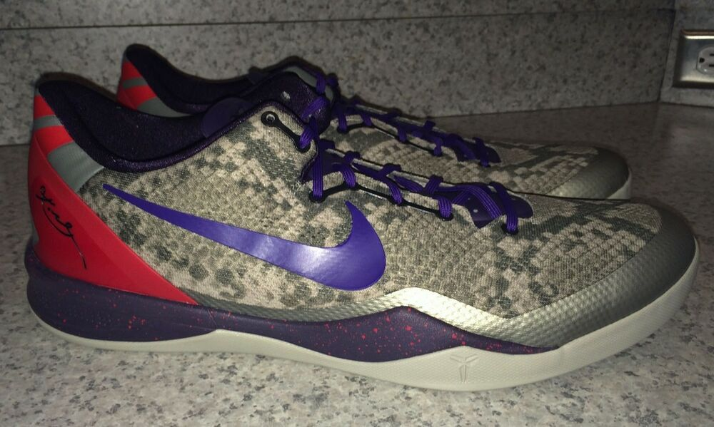 factory price 6f9ca cb656 Details about NIKE KOBE 8 System Low Grey Purple Red Basketball Shoes  Sneakers NEW Mens 18