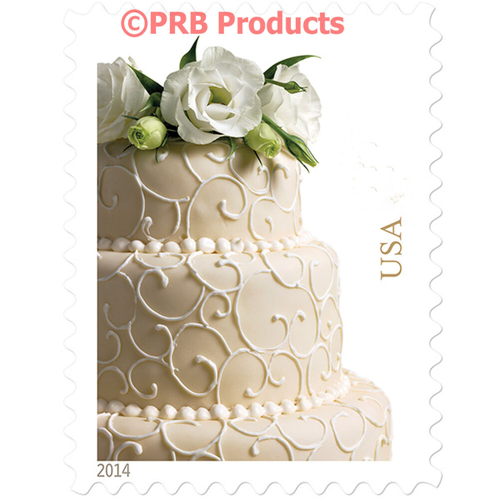 Stamps For Wedding Invitations: Wedding Cake USPS Postage Stamps Sheet Of 20 Invitations
