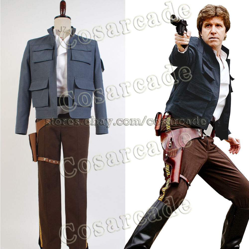 Amazoncom Star Wars Deluxe Han Solo Costume Clothing