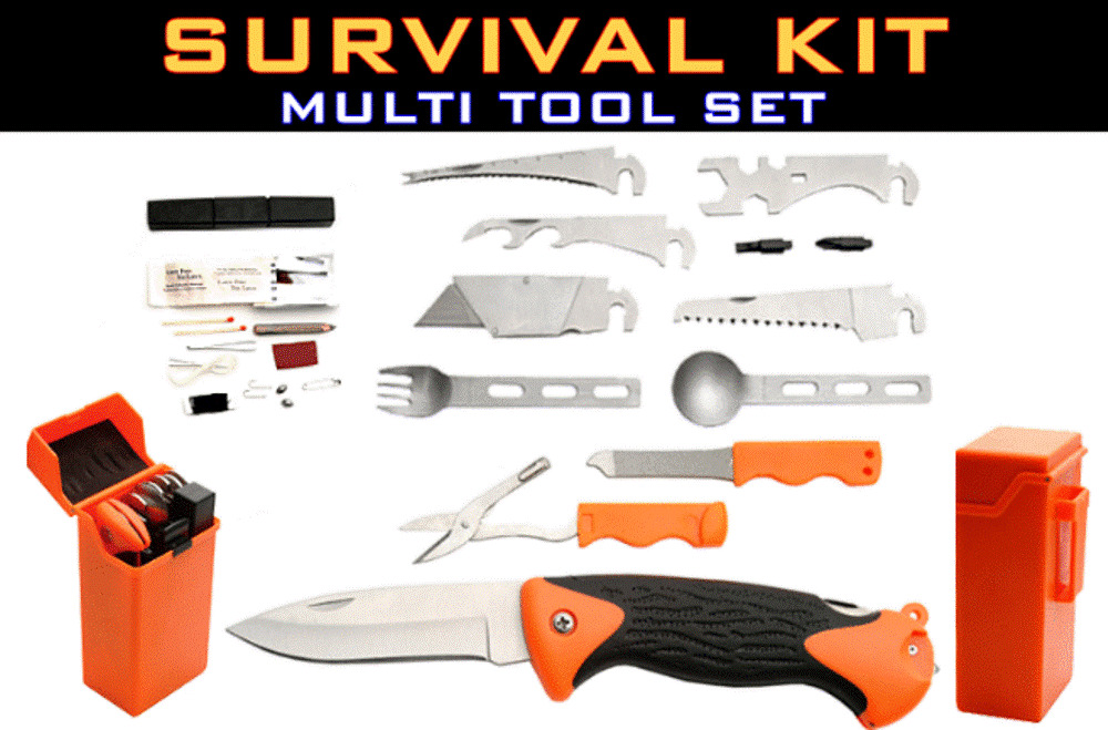 New 5 Quot Interchangeable 9 Piece Emergency Survival Multi