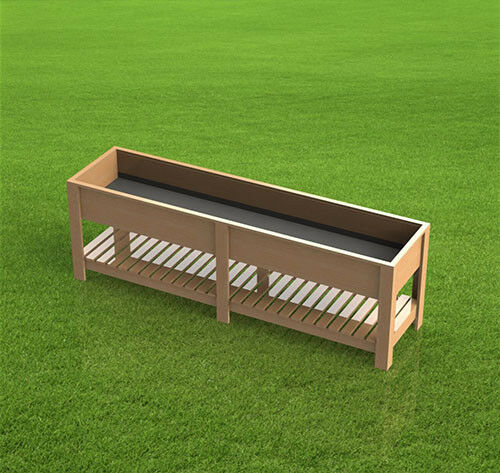 Rectangle Raised Flower Box Planter Bed 2 Tier Soil Pots: 8ft Raised Planter Box 001