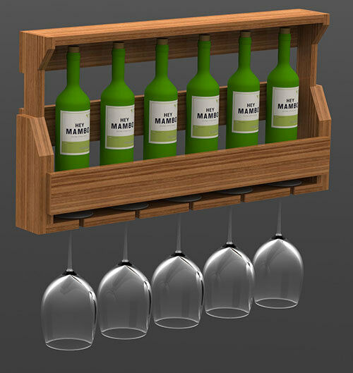 Wall Mounted Wine Rack Woodworking Paper Plans Building