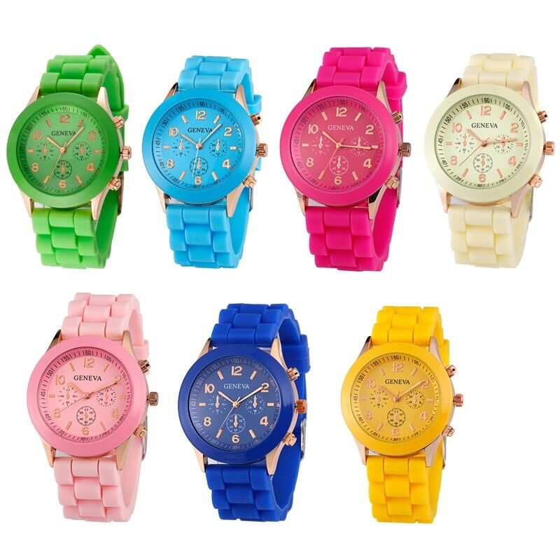 Womens Mens Watches Quartz Jelly Silicone Analog Sports ...