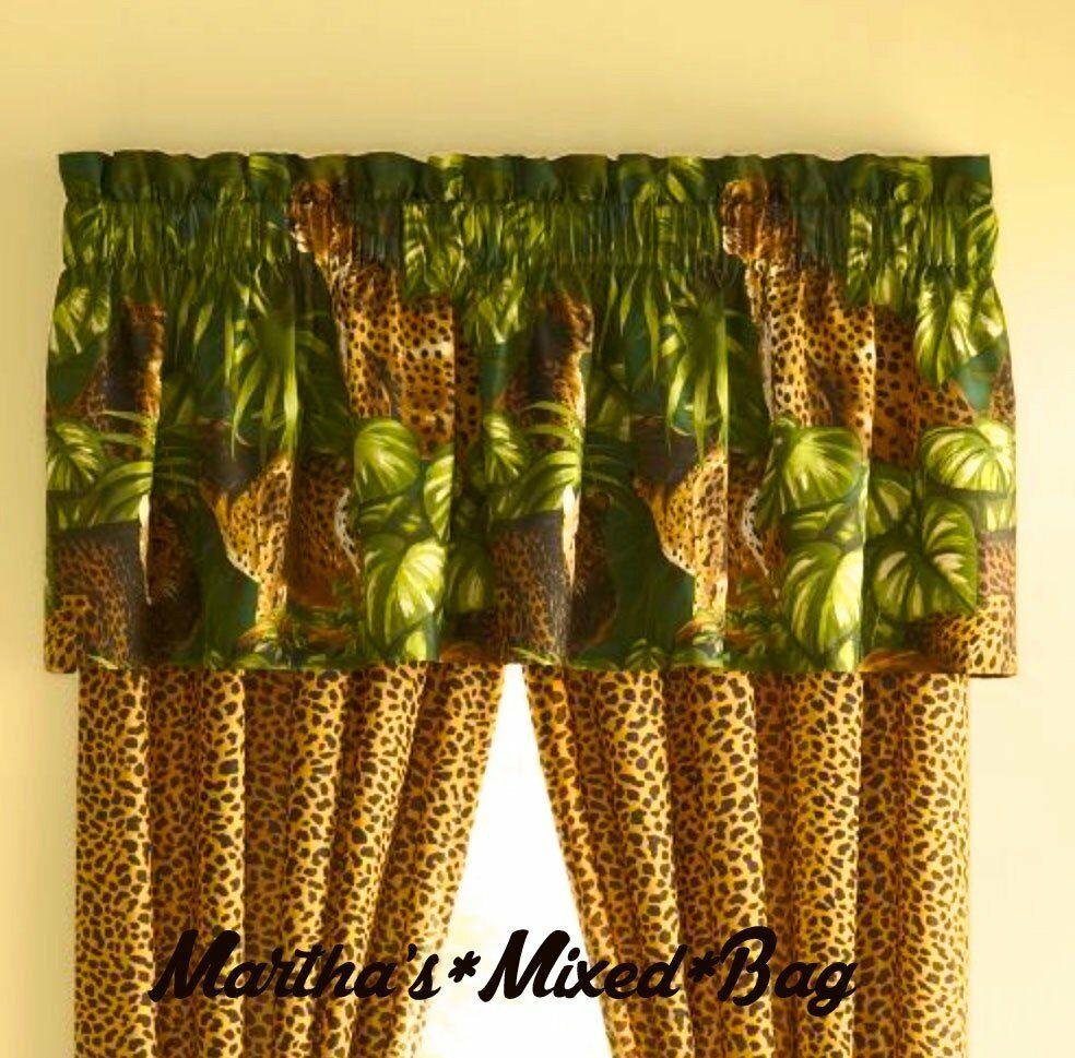 Safari Jungle Cats CHEETAH LEOPARD Animal Print WINDOW ...