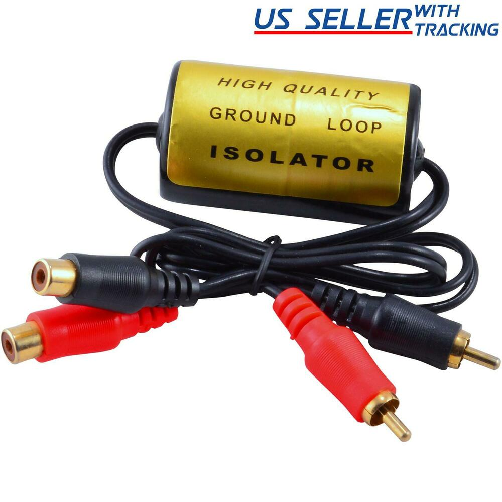 RCA Audio Noise Filter Suppressor Ground Loop Isolator for Car and Home Stereo 845832013916 | eBay