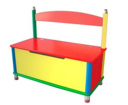 New Wood Pencil Toy Chest Wooden Storage Bench Box Kids Toy Bin Playroom Ebay