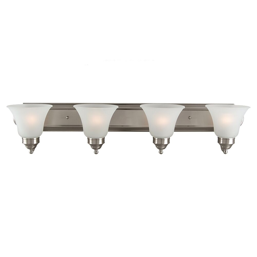 Sea gull lighting 44238 962 4 light brushed nickel for Brushed nickel bathroom lighting fixtures