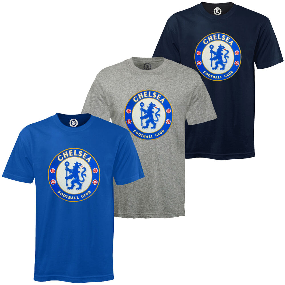 Chelsea Football Club Official Soccer Gift Mens Crest T ...