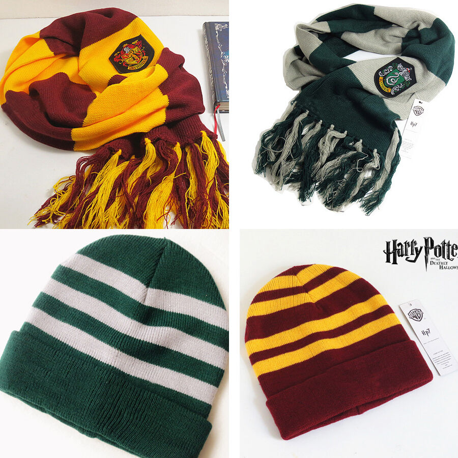 Harry Potter Scarf Knitting Pattern Slytherin : Harry Potter Gryffindor Slytherin Cosplay Scarf Soft Warm ...