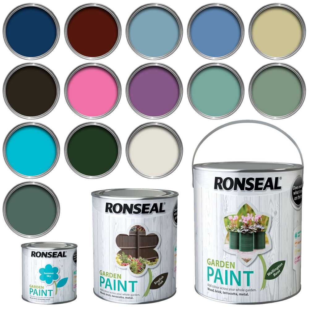 Ronseal chalky furniture paint ronseal - Ronseal Exterior Garden Paint Wood Brick Metal Stone 250ml 750ml 2 5l Ebay