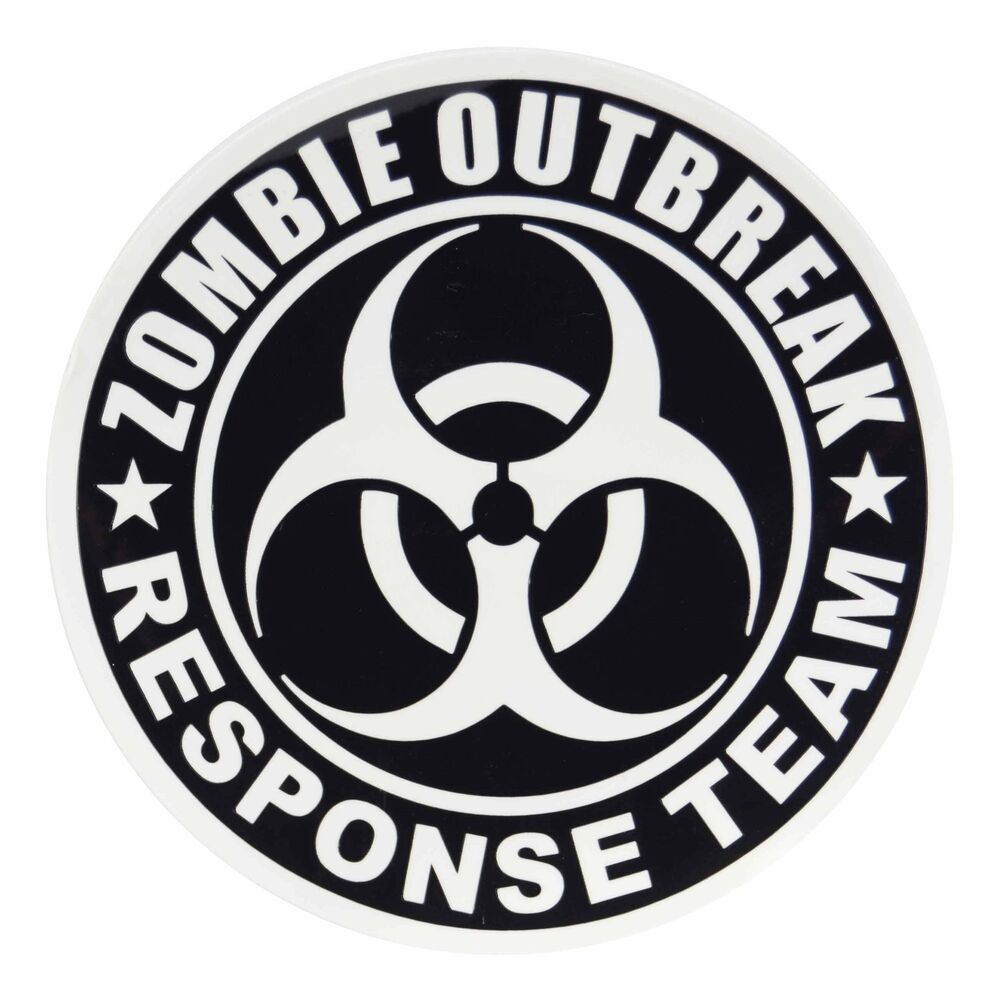 Zombie Outbreak Response Team Sticker X 2 Decal Undead