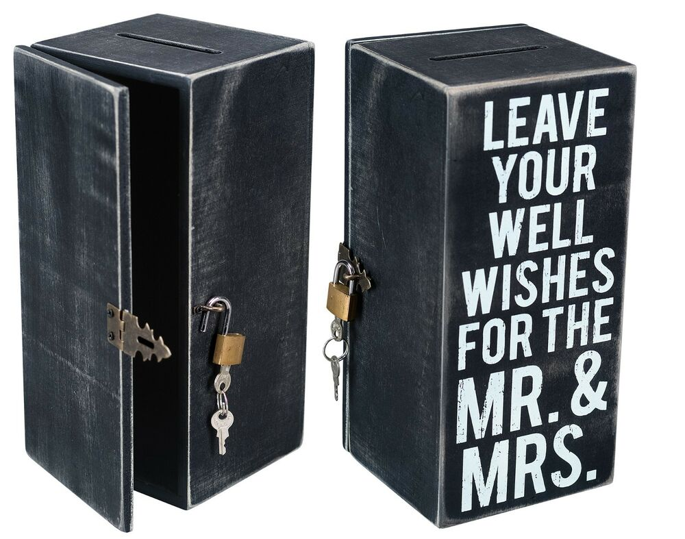 wedding card wish box wood well wishes 8 5 x 4 x 4 primitives by kathy 883504215053 ebay. Black Bedroom Furniture Sets. Home Design Ideas