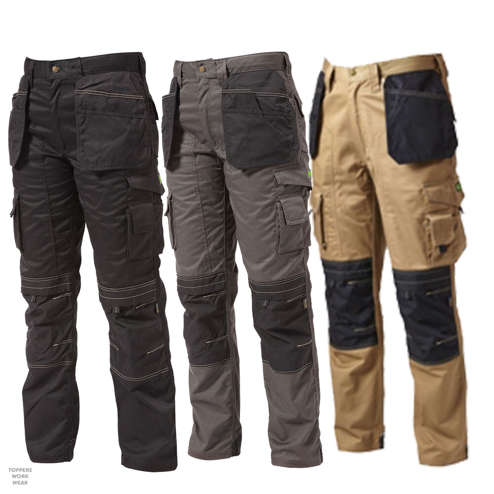 Apache Heavy Duty Cargo Work Wear Cordura Trousers Kneepad &amp ...