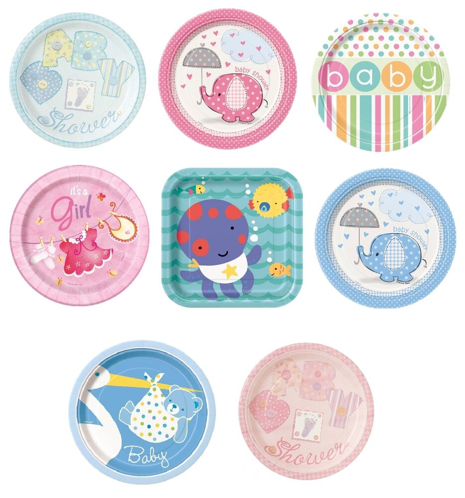 baby shower 8 small paper plates 7 boy girl party tableware