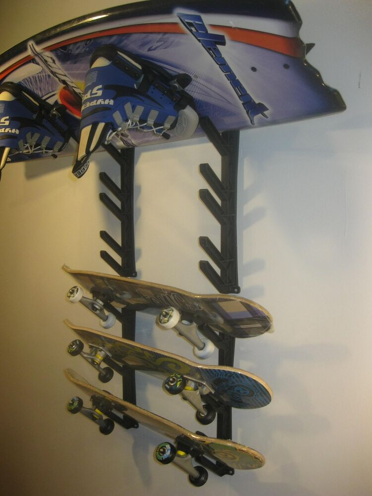 Ski snowboard skateboard wakeboard sport storage display holder wall mount  rack | eBay