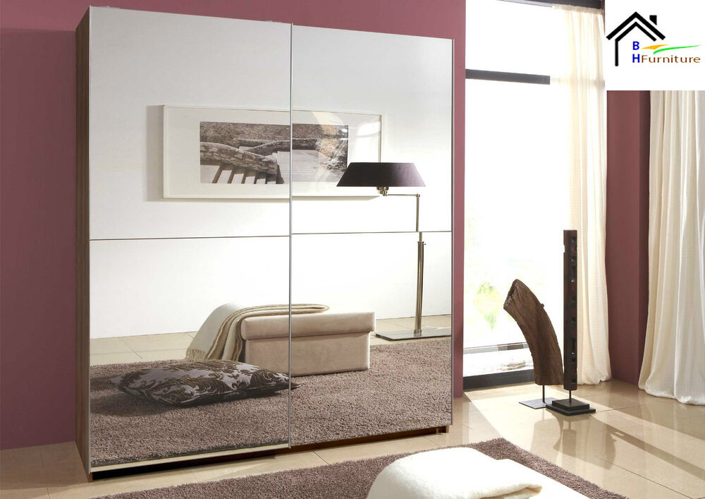 sliding wardrobe with full mirror door 180 cm german made living room
