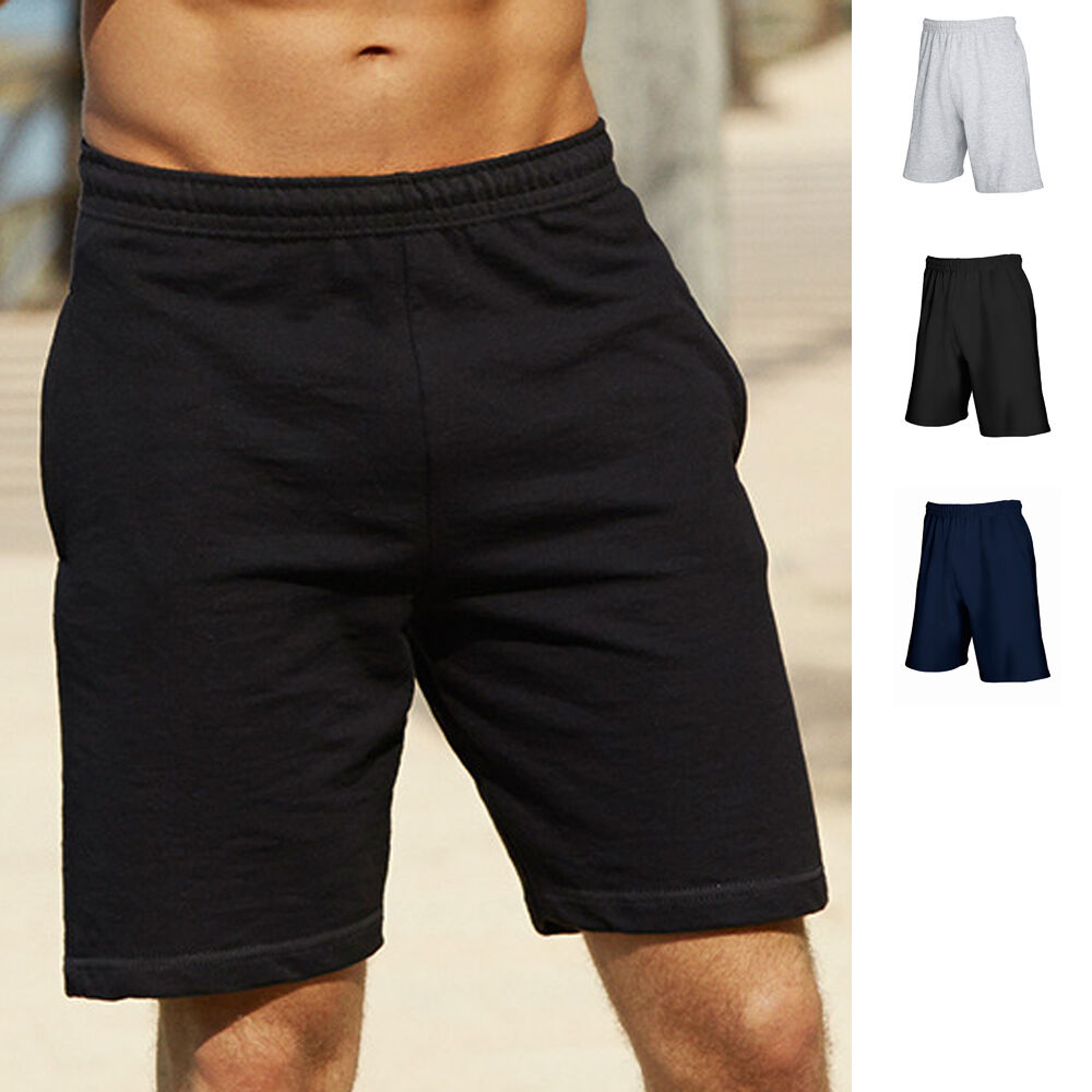 fruit of the loom herren jogginghose kurze hose sport bermuda lightweight shorts ebay. Black Bedroom Furniture Sets. Home Design Ideas