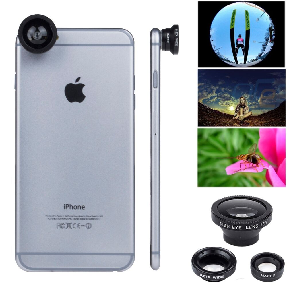 fisheye lens for iphone 5 3 in 1 kit magnetic lens fish eye wide angle macro 16939