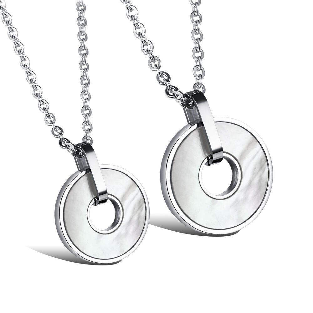 new stainless steel white shell medals pendant necklace. Black Bedroom Furniture Sets. Home Design Ideas